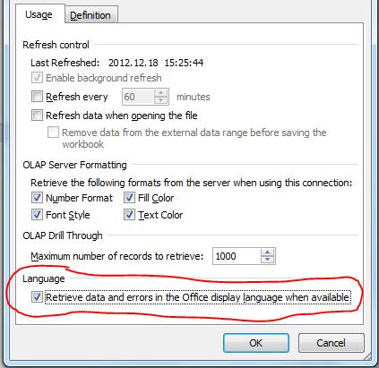 Adatok lekérdezése az Office nyelvével azonos nyelven