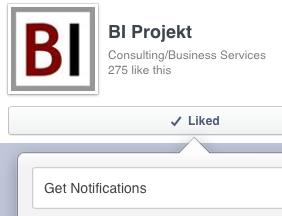 Facebook értesítés BI projekt blog és BI jegyzetek