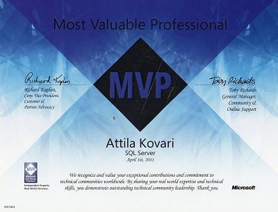 MVP kitüntetés 2011