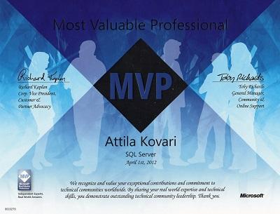MVP kitüntetés 2012