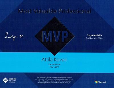 MVP kitüntetés 2017