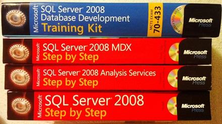 Ajándék SQL 2008 könyvek