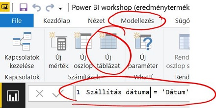 Calculated Table Power BI-ban