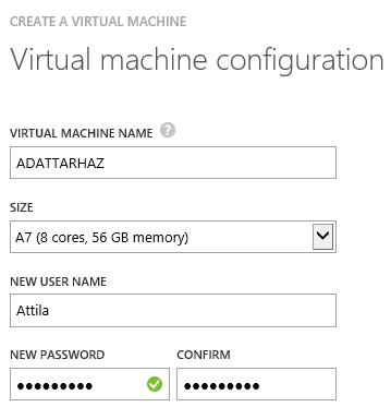 Azure Virtual Data Warehouse configuraion